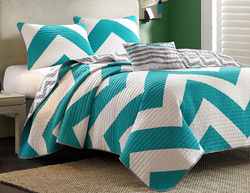 Libra Blue Coverlet By Mi Zone Beddingsuperstore Com