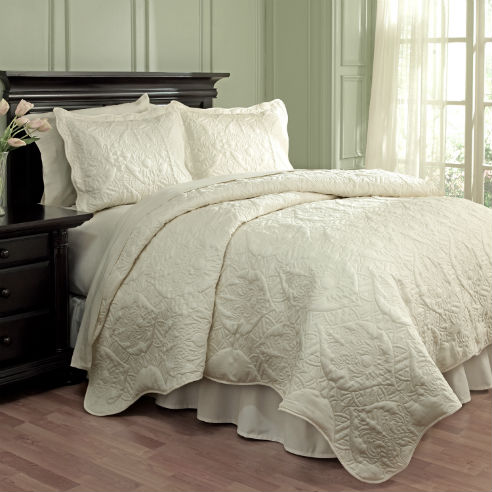 Dressed Up Damask Taupe By Waverly Bedding