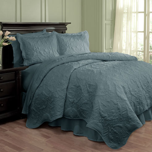 Dressed Up Damask Blue By Waverly Bedding