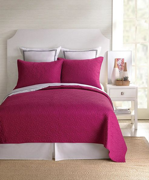 Santorini Fuschia Coverlet By Trina Turk Bedding