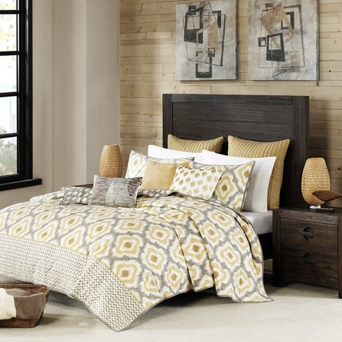 Ankara Yellow Coverlet By Ink Amp Ivy Bedding