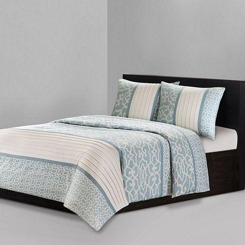 Fretwork Aqua By Natori Bedding Beddingsuperstore Com