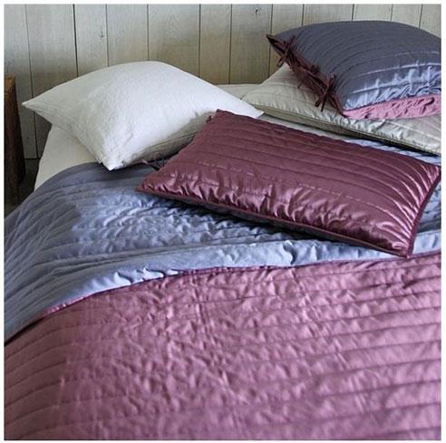 Tiber Reversible Quilt Crocus Lilac By Designers Guild