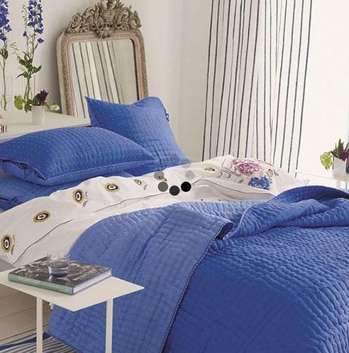 Chenevard Reversible Quilt Cobalt Amp Cerulean By Designers