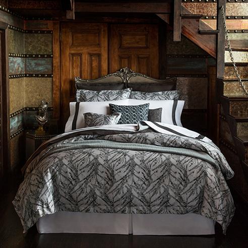Pallina Pewter By Sferra Fine Linens Beddingsuperstore Com