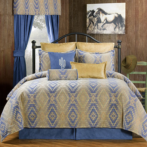 Pueblo Blue By Victor Mill Beddingsuperstore Com