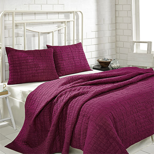 Rochelle Boysenberry By Vhc Brands Quilts
