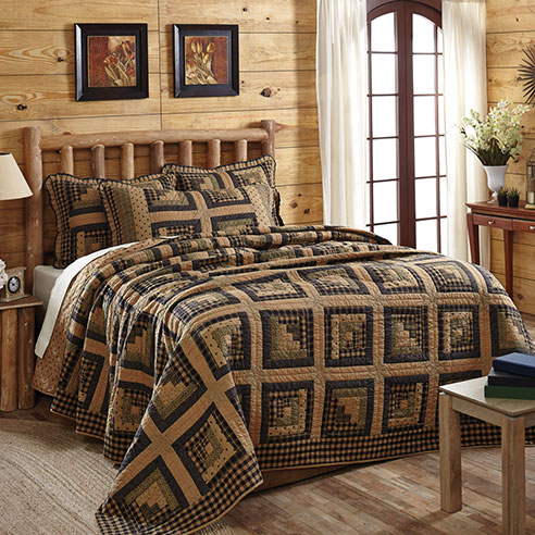 Brockton Cabin Black By Vhc Brands Quilts