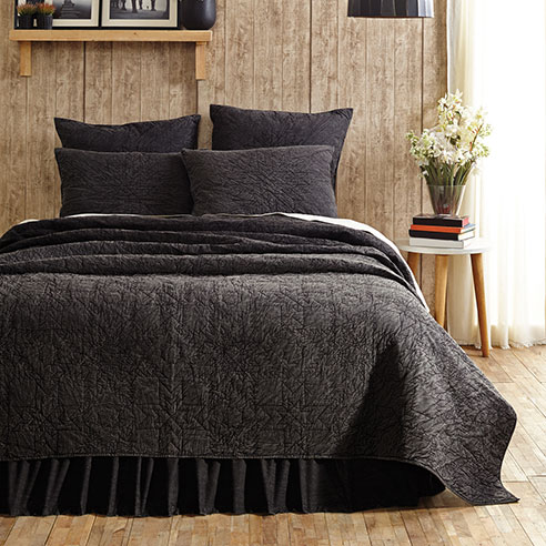 Cheyenne Black Denim By Vhc Brands Quilts