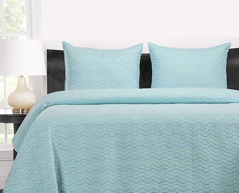 Stitched Robins Egg Blue By Crayola Bedding