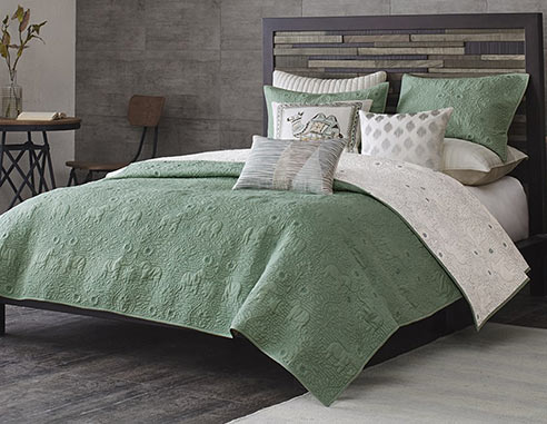Kandula Seafoam Coverlet By Ink Amp Ivy Bedding
