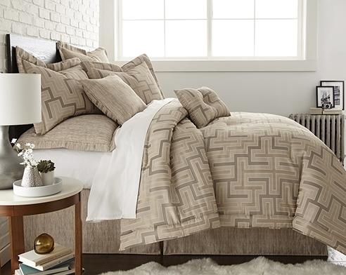 En Vogue Maze Quartz Beige By Austin Horn Luxury Bedding