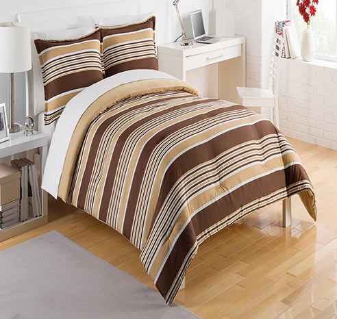 Caddy Stripe Brown By Izod Bedding Beddingsuperstore Com