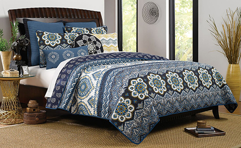 Medina Indigo By Greenland Home Fashions