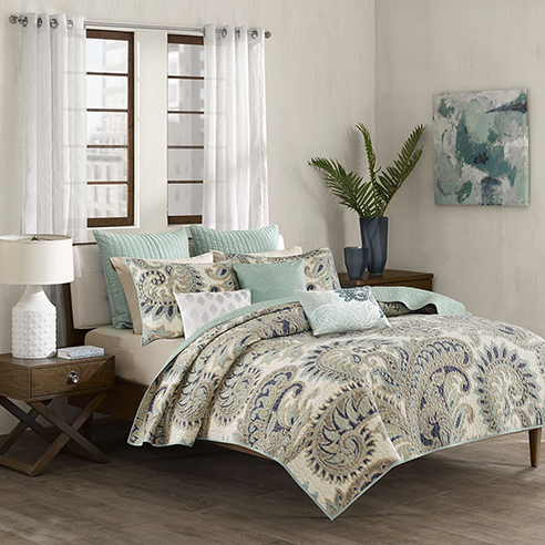Mira Blue Coverlet By Ink Amp Ivy Bedding