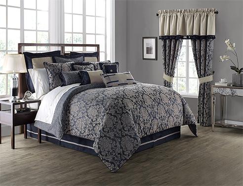 Sinclair Indigo By Waterford Luxury Bedding Beddingsuperstore Com