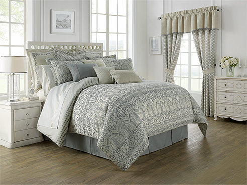 Allure Slate Grey By Waterford Luxury Bedding