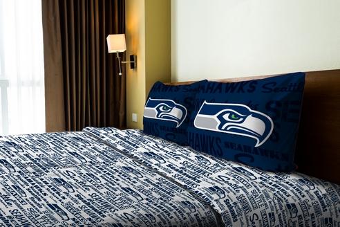 Seattle Seahawks Anthem Sheet Set Beddingsuperstore Com