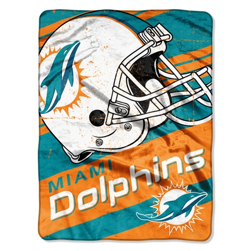Miami Dolphins Deep Slant Micro Throw Beddingsuperstore Com