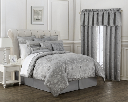Samantha Platinum By Waterford Luxury Bedding
