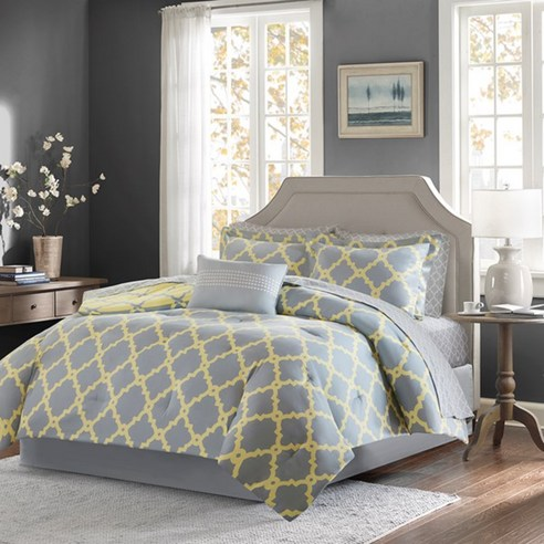 Merritt Grey Yellow By Madison Park Beddingsuperstore Com