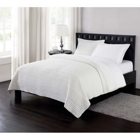 Garment Washed Crinkle Blanket Reversible Cream By