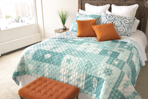 Seahorse Grid By Donna Sharp Quilts Beddingsuperstore Com