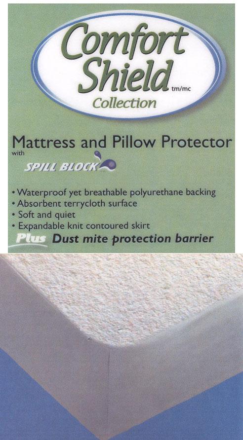 Comfort Shield Mattress Amp Pillow Protectors Water Amp Dust