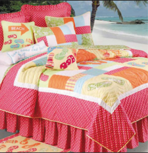 Flip Flops On The Beach By C&F Quilts