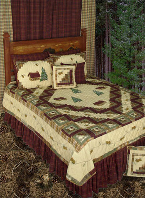 Forest Log Cabin By Patchmagic Quilts Beddingsuperstore Com