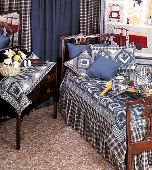 Blue Log Cabin By Patchmagic Quilts Beddingsuperstore Com