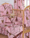 All Purpose Pink Crib Set by Realtree