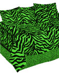 Zebra Green Daybed Set  by Karin Maki
