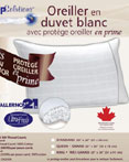 White Down Pillow With Bonus Pillow Protector