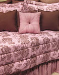 Toile Pink & Brown by Wilk Textiles