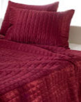 Red Shimmer Quilt by Rizzy Home Bedding