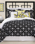 Trellis Black & White by Trina Turk Bedding