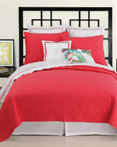 Santorini Coverlet Coral by Trina Turk Bedding