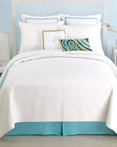 Santorini Coverlet White by Trina Turk Bedding