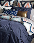Harper Navy Blue by Blissliving Home Bedding