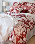 Floreale - Rosso  by St. Geneve Luxury Bedding