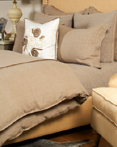 Churchill Linen Flax by Daniel Stuart Bedding