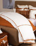 Churchill Linen Ivory Bronze by Daniel Stuart Bedding by Daniel Stuart Bedding