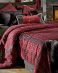 Sagamore Lake Plaid by Carstens Lodge Bedding  by Carstens Lodge Bedding