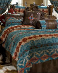 Turquoise Chamarro by Carstens Lodge Bedding