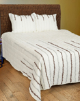 Streamers Gray/Silver by Rizzy Home Bedding