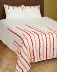 Streamers Red/Orange by Rizzy Home Bedding