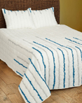 Streamers Blue/Silver by Rizzy Home Bedding