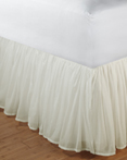 Cotton Voile Bedskirt by Greenland Home Fashions