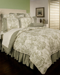 Country Toile Sage by Sherry Kline